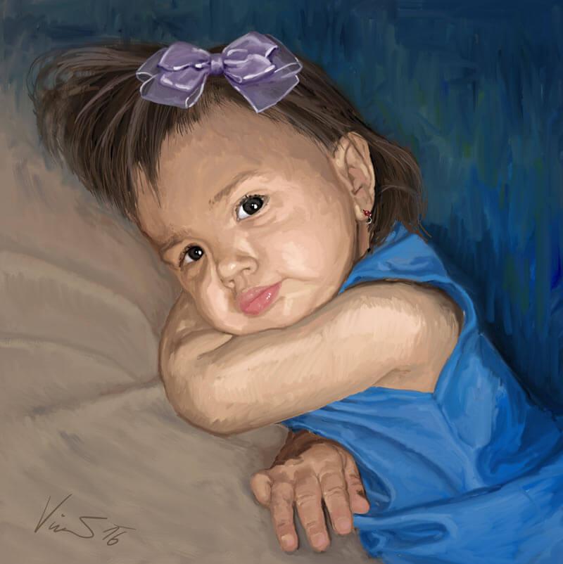 Obraz dvouletá Adélka