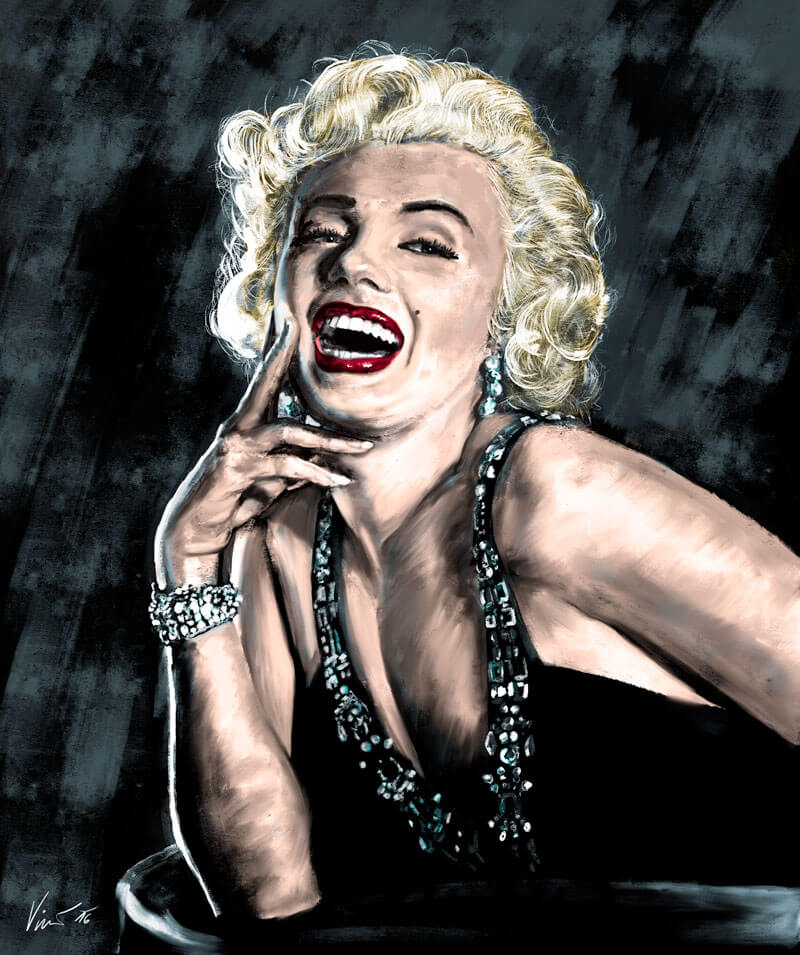 Obraz Marilyn Monroe barevný