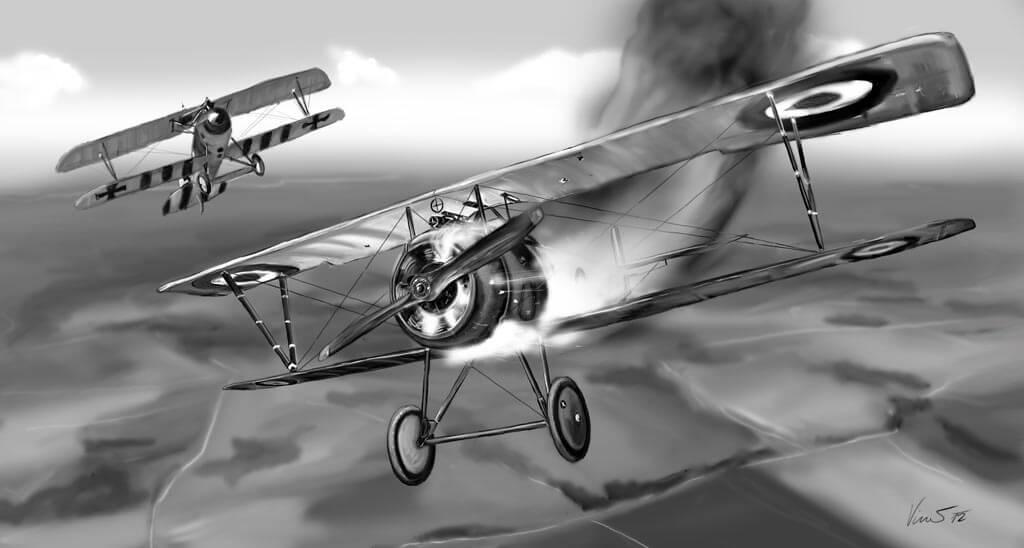 Obraz sestřelený Nieuport 17.C1