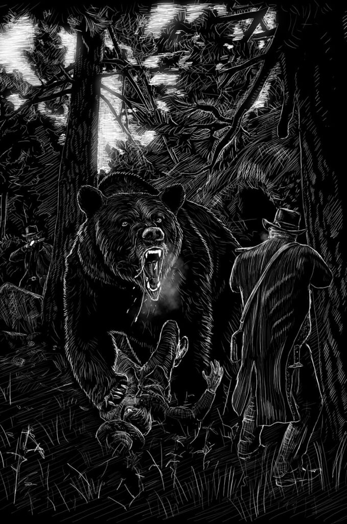 Ilustrace knihy Hrůzy v Michiganu