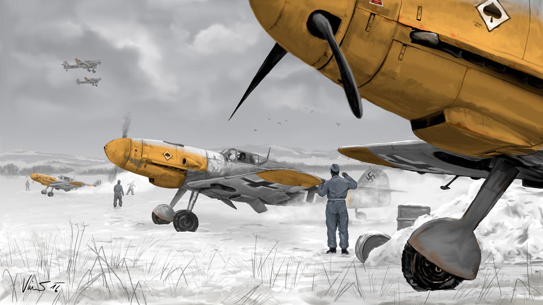 Obraz JG 53 na východní frontě roku 1941