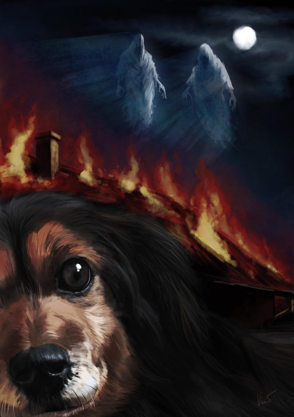 Ilustrace k hororové povídce - Vrtochy starého psa